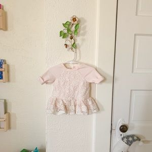 Light pink and ivory lace baby dress! Super cute!